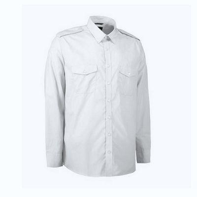 Pilot skjorte langærmet uniformsskjorte | Billig sport.dk